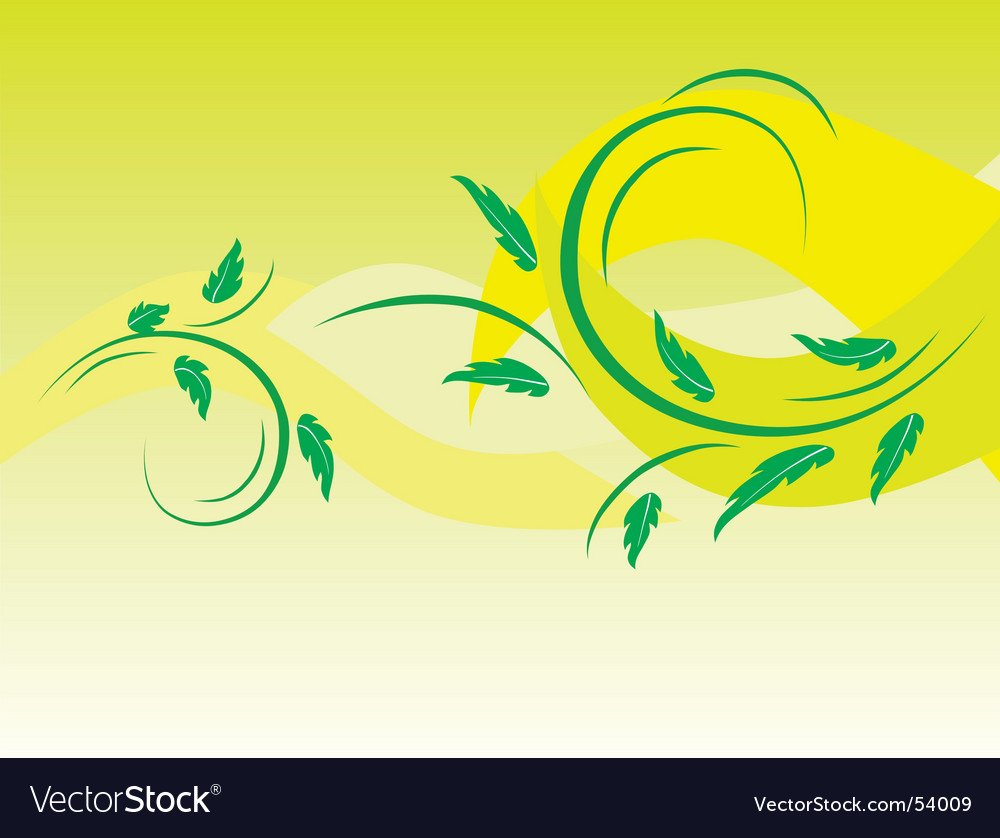 Botanical background of green leaves vector | Price: 1 Credit (USD $1)