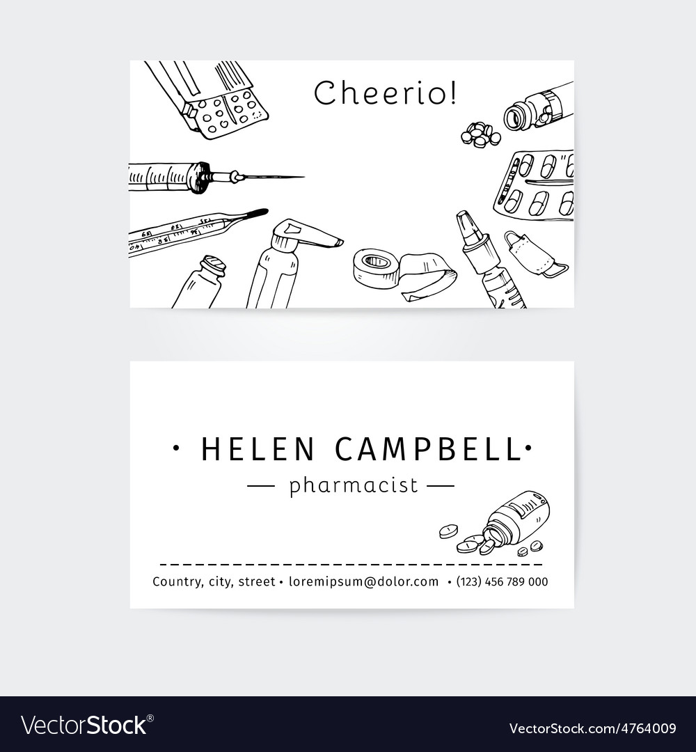 Business cards design template for medical advisor vector   Price: 1 Credit (USD $1)