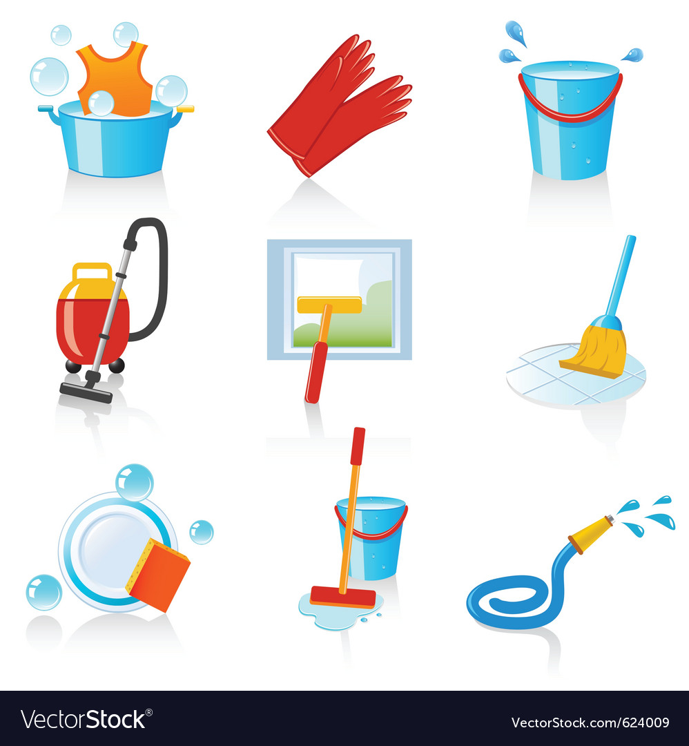 Cleaning icons vector | Price: 3 Credit (USD $3)