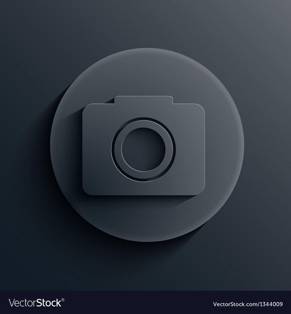 Dark circle icon eps10 vector | Price: 1 Credit (USD $1)