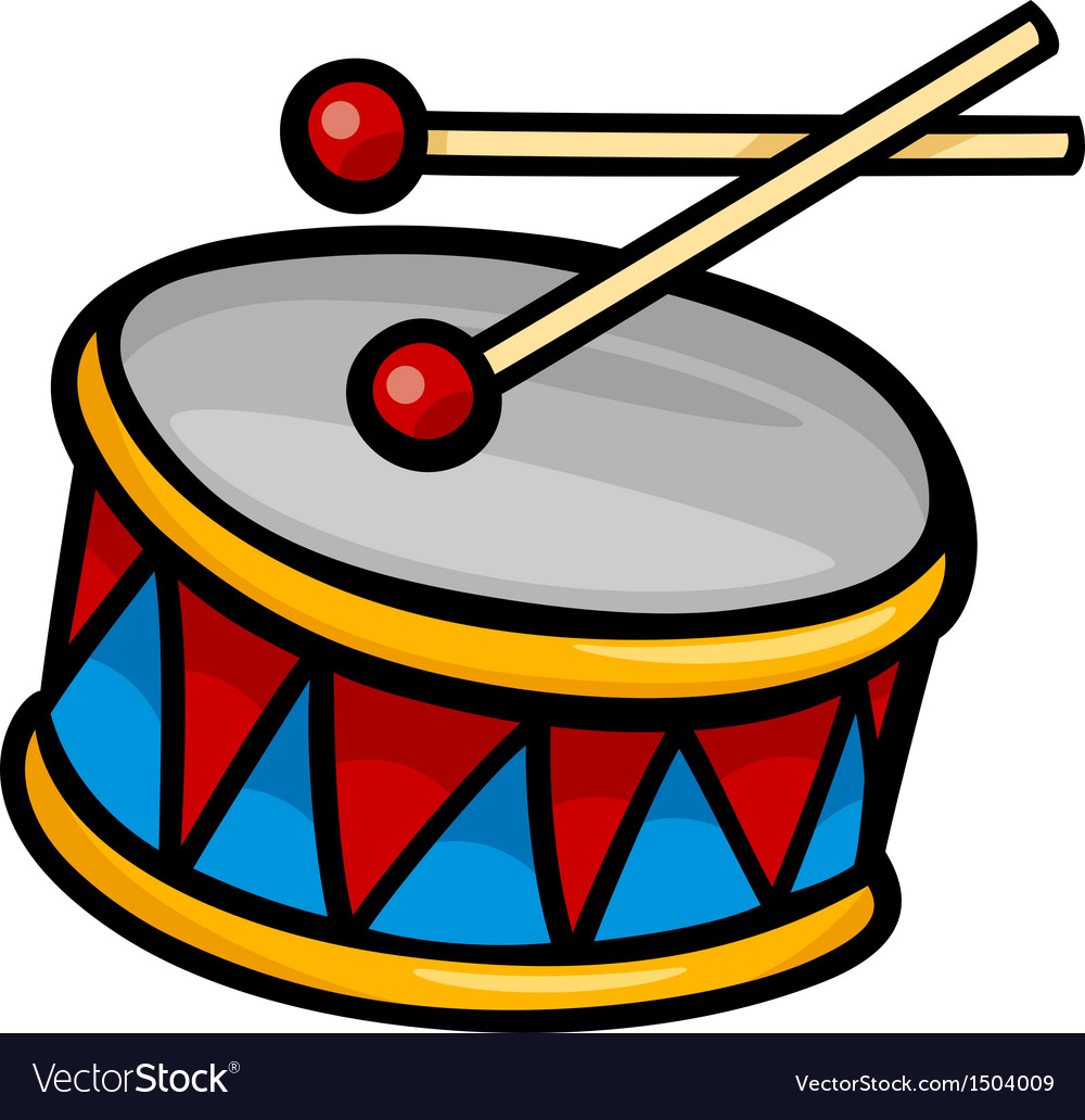 Drum clip art cartoon vector | Price: 1 Credit (USD $1)