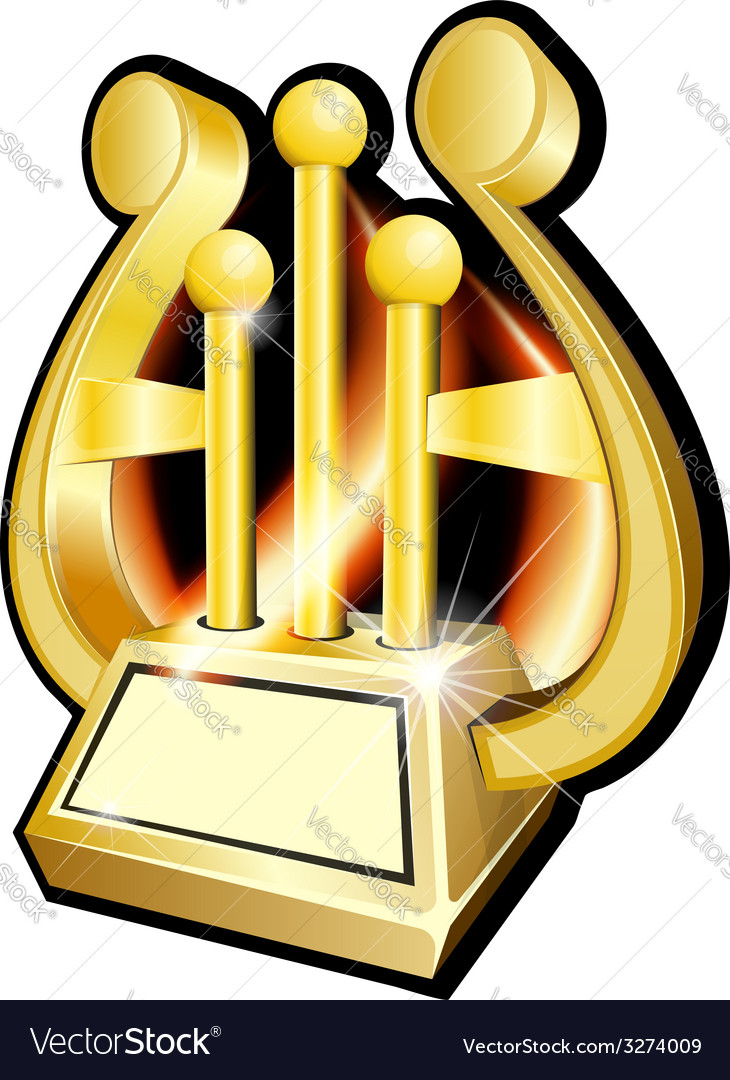 Harp gold award statuette vector | Price: 1 Credit (USD $1)