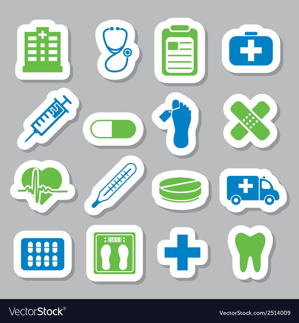 Hospital stickers vector | Price: 1 Credit (USD $1)