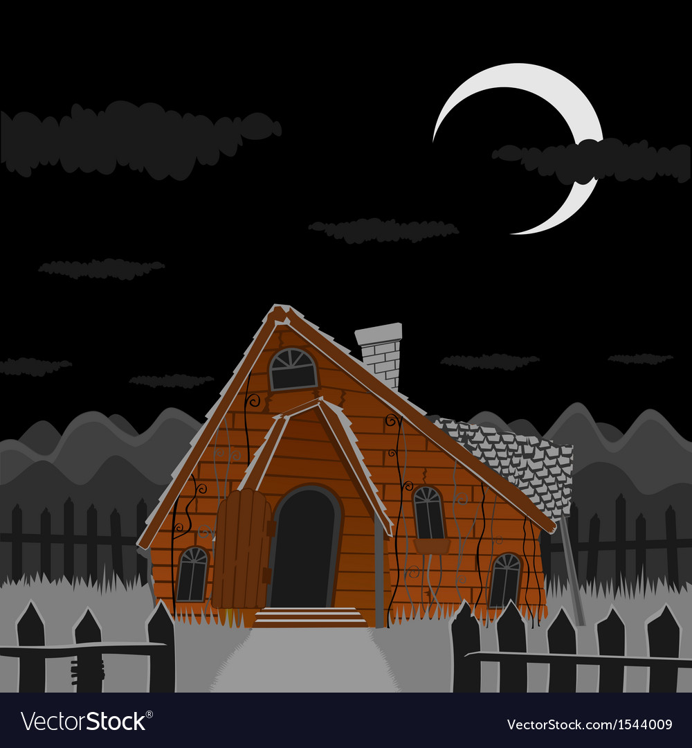 Old scary house vector | Price: 1 Credit (USD $1)