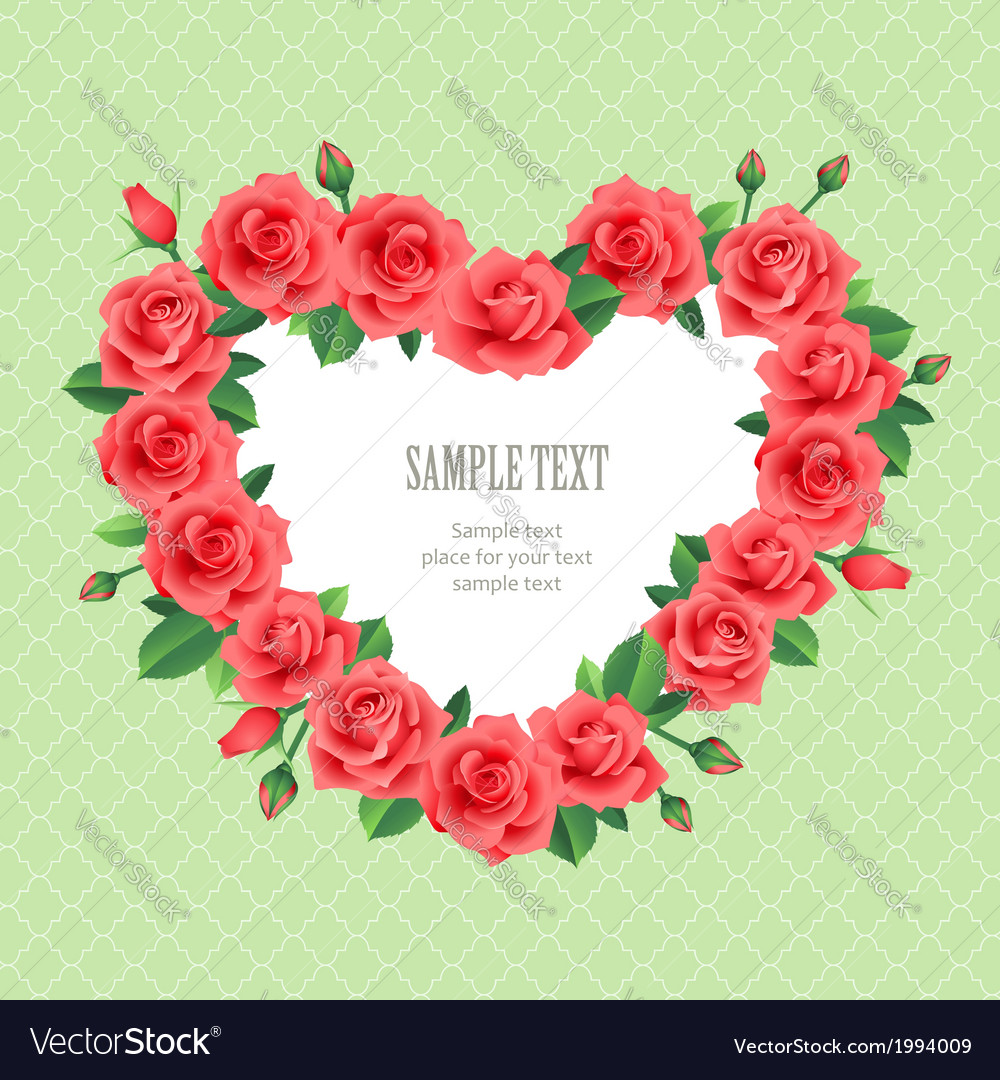 Retro rose frame vector | Price: 1 Credit (USD $1)