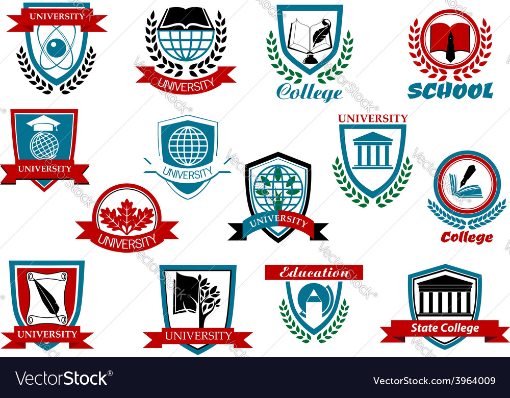 School university or college emblems and symbols vector | Price: 1 Credit (USD $1)