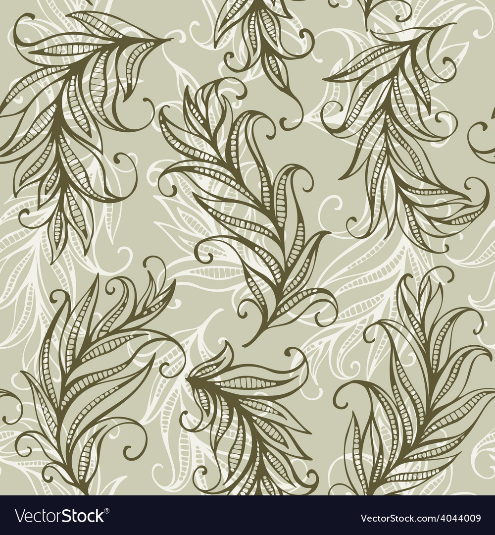 Seamless pattern with amazing feathers and vector | Price: 1 Credit (USD $1)