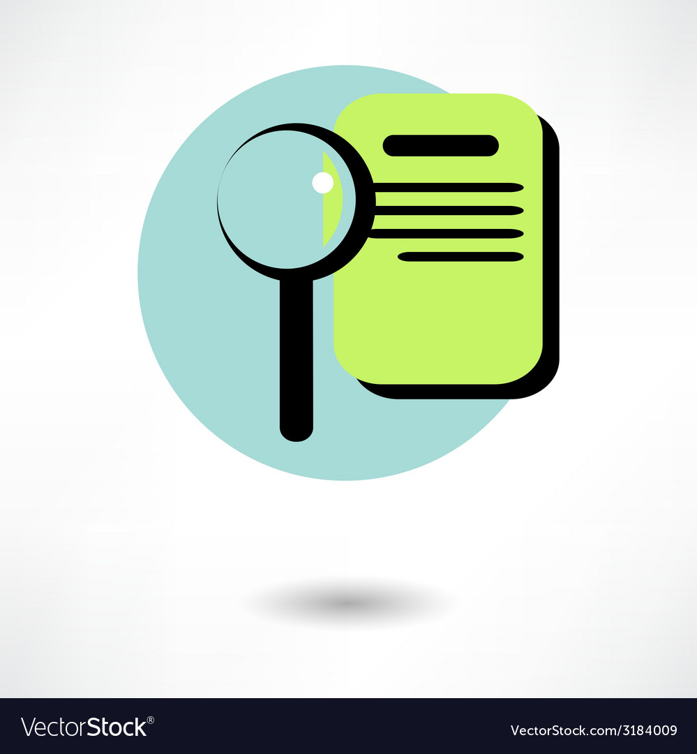 Search concept with check list on clipboard and vector | Price: 1 Credit (USD $1)