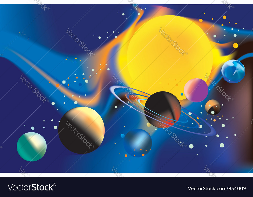 Solar systems poster vector   Price: 1 Credit (USD $1)