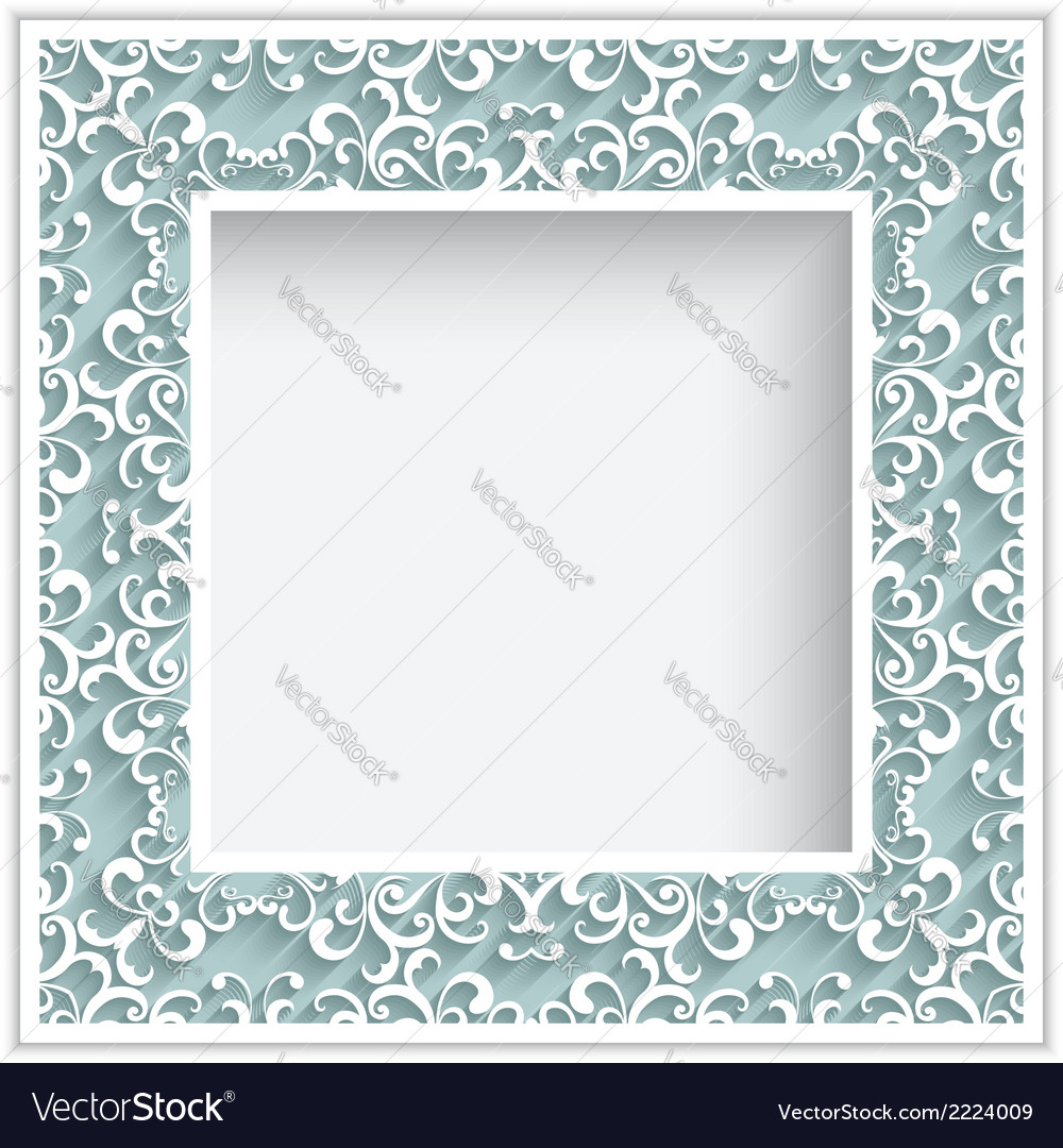 Square paper lace frame vector | Price: 1 Credit (USD $1)