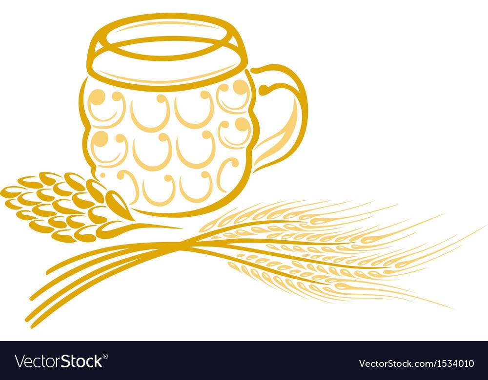 Beer hops barley vector