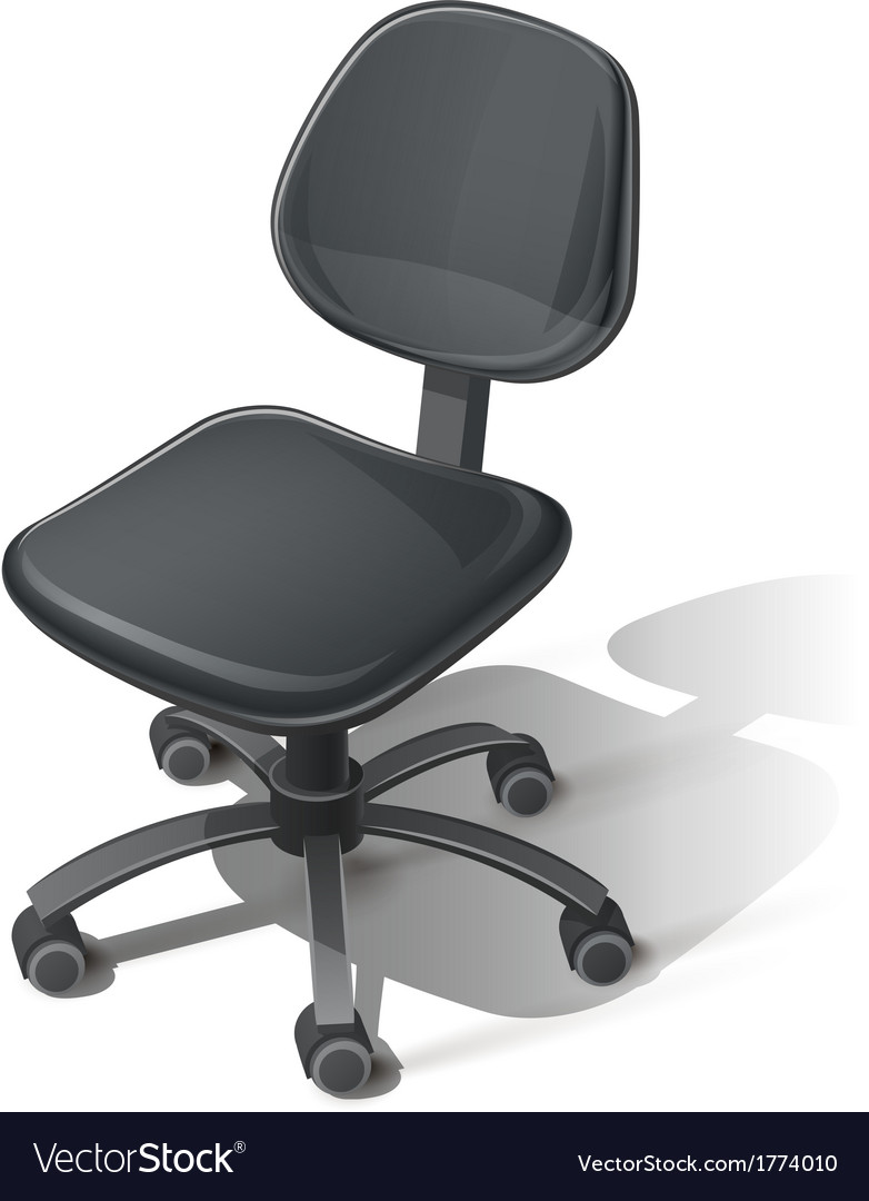 Black office chair vector | Price: 1 Credit (USD $1)