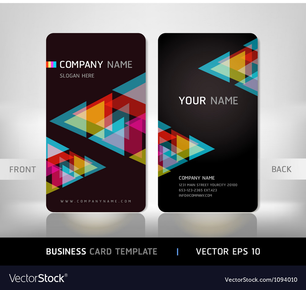 Business card abstract background vector | Price: 1 Credit (USD $1)