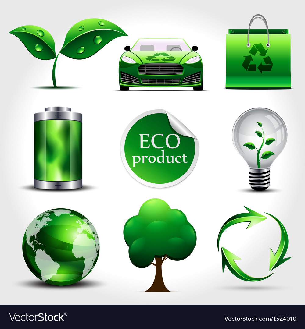 Ecology icons vector | Price: 3 Credit (USD $3)