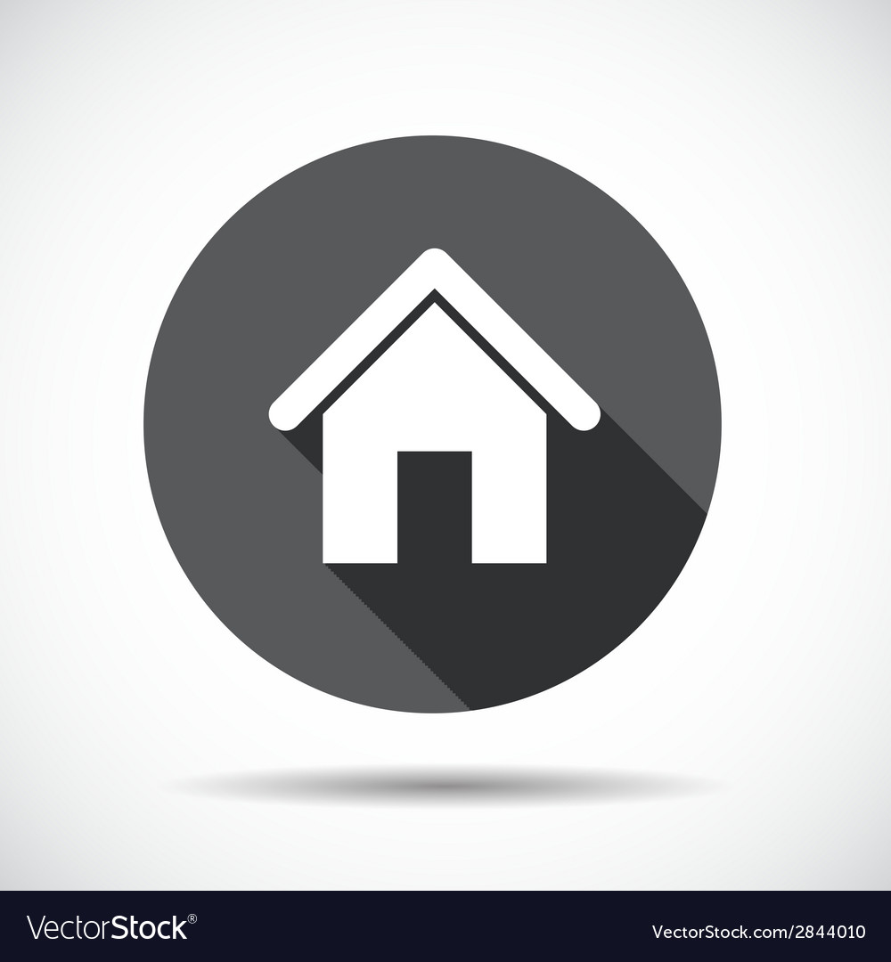 Home flat icon with long shadow vector | Price: 1 Credit (USD $1)