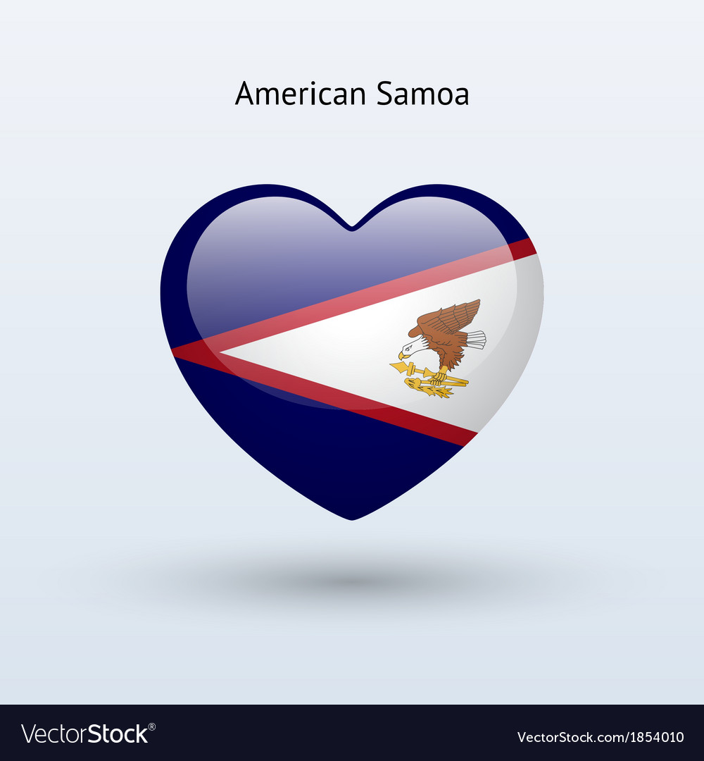 Love american samoa symbol heart flag icon vector | Price: 1 Credit (USD $1)