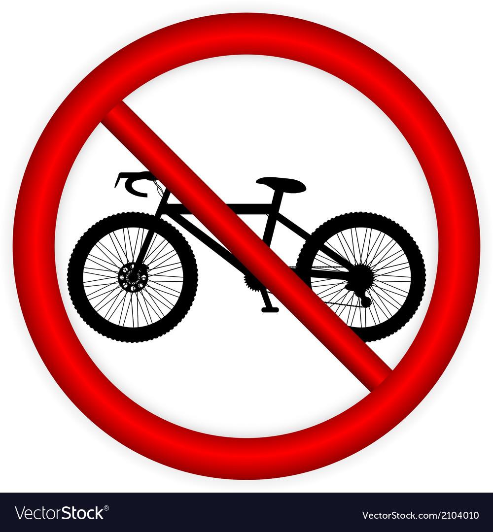 No bike sign vector | Price: 1 Credit (USD $1)