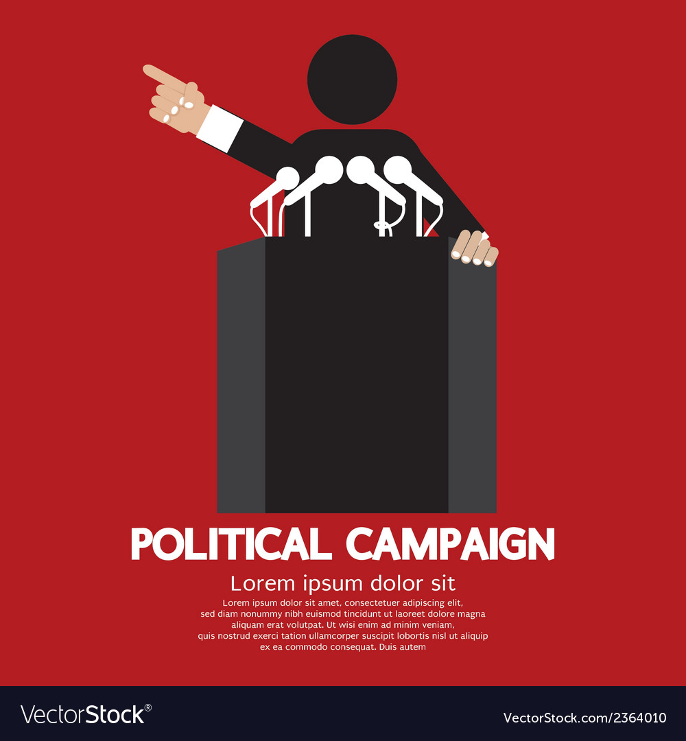 Political campaign vector | Price: 1 Credit (USD $1)