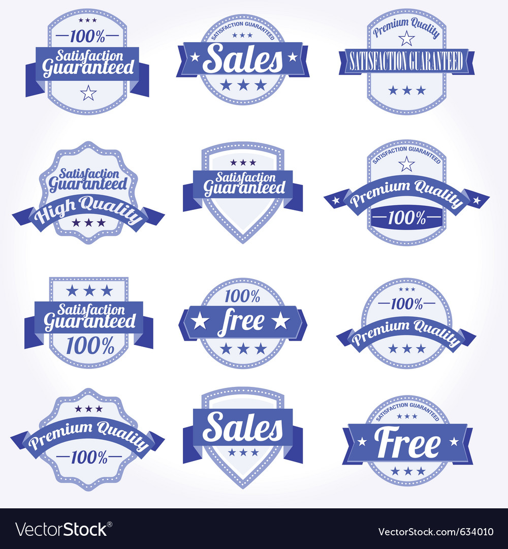 Premium quality sales free labels with retro vector | Price: 1 Credit (USD $1)