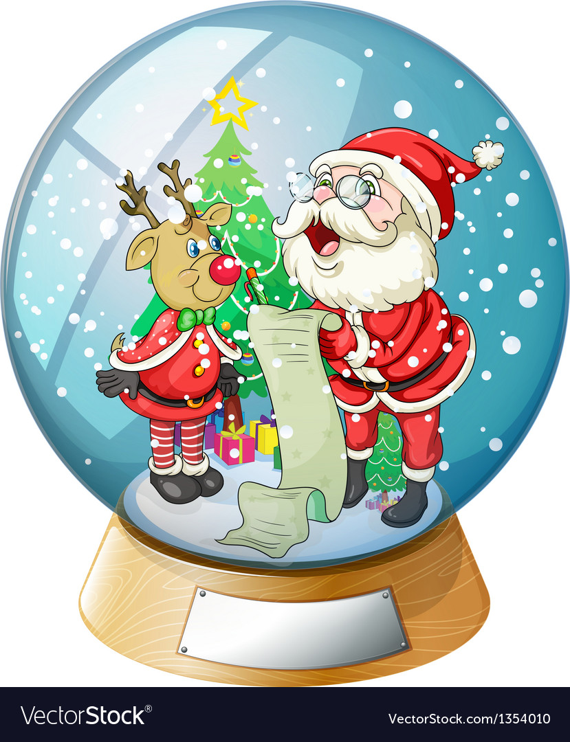 Santa claus crystal ball vector | Price: 1 Credit (USD $1)