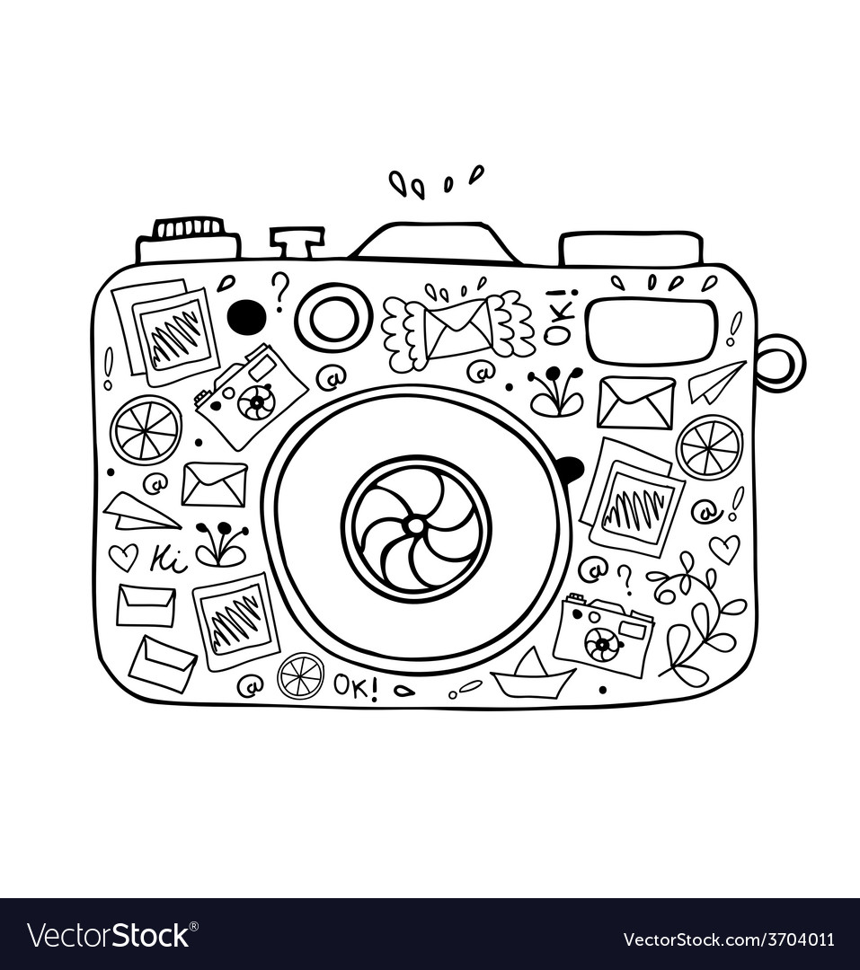 Abstract camera design vector | Price: 1 Credit (USD $1)