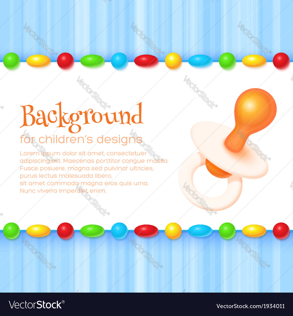 Abstract childrens background vector | Price: 1 Credit (USD $1)