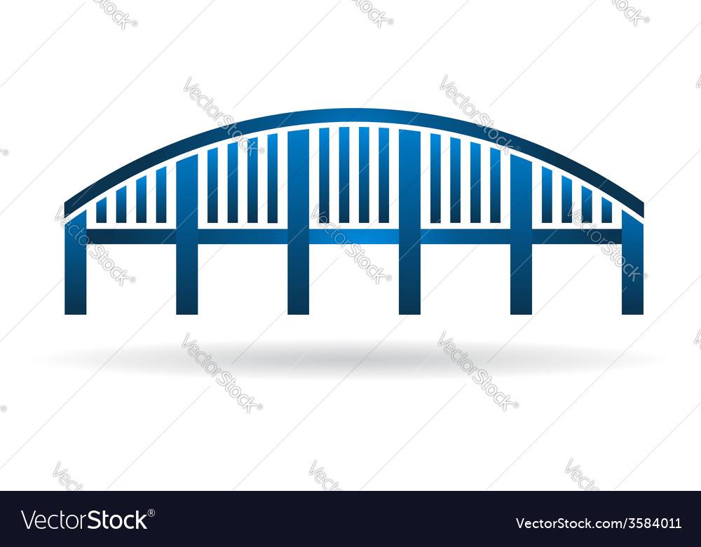 Arch bridge structure logo vector   Price: 1 Credit (USD $1)