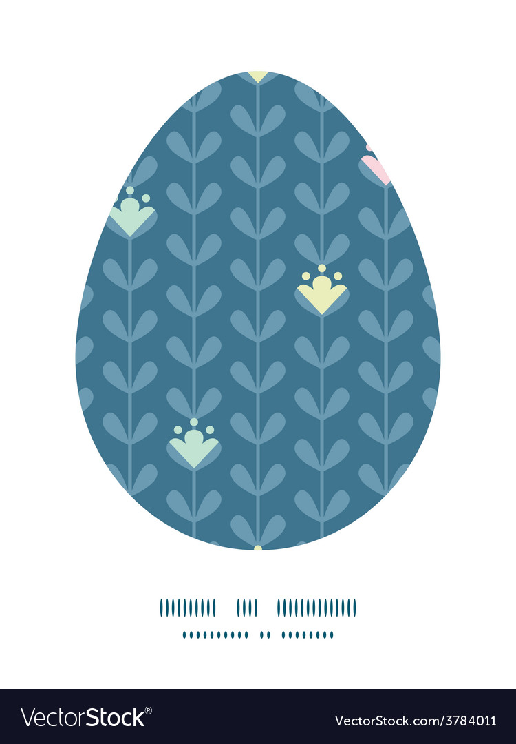 Blloming vines stripes easter egg vector | Price: 1 Credit (USD $1)