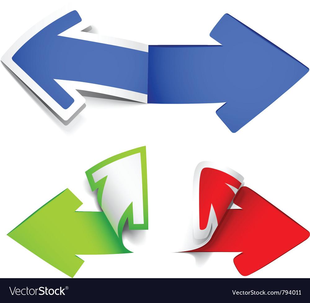 Colour arrows vector | Price: 1 Credit (USD $1)