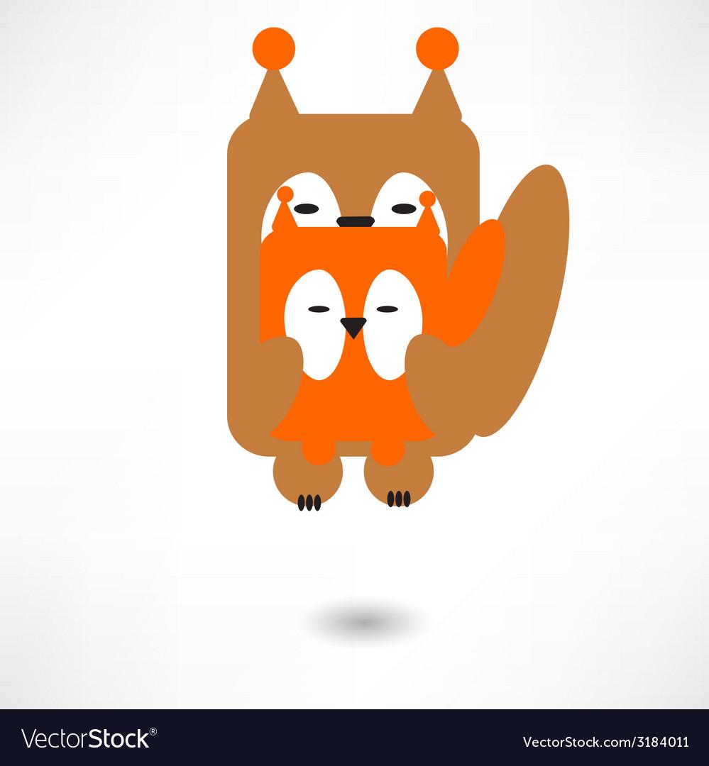 Cute squirrel cartoon vector | Price: 1 Credit (USD $1)