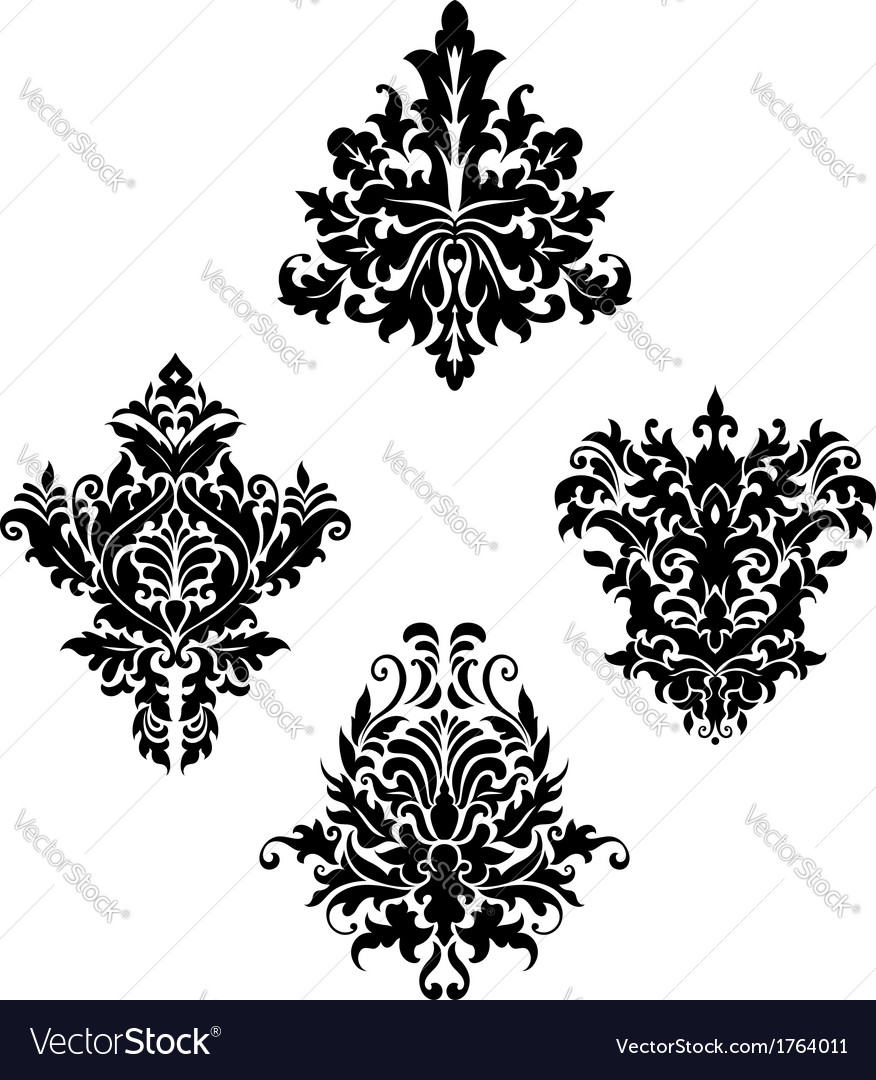 Damask vintage floral patterns vector | Price: 1 Credit (USD $1)