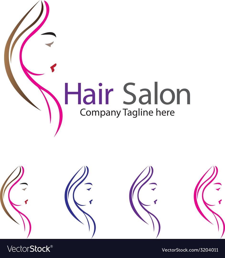 Hair salon logo vector | Price: 1 Credit (USD $1)