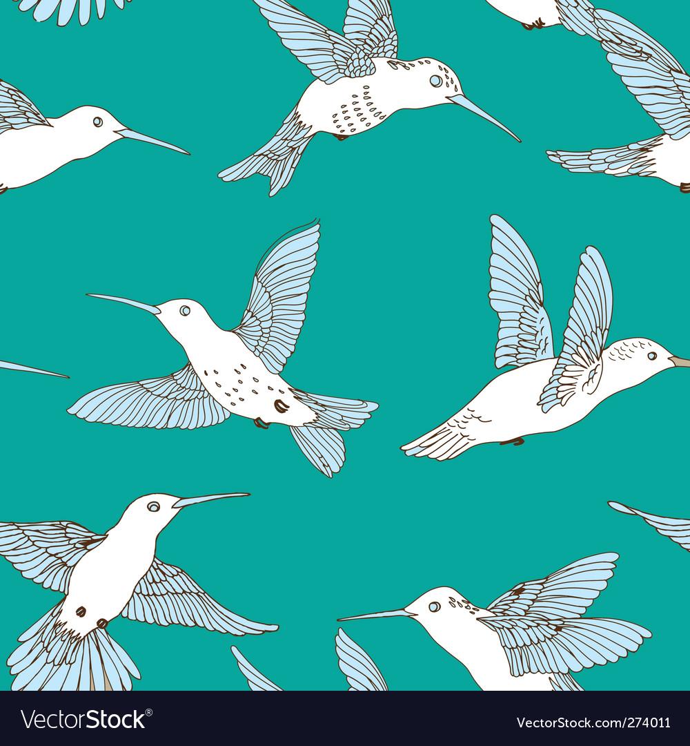 Humming bird pattern vector | Price: 3 Credit (USD $3)