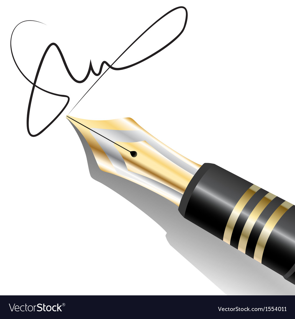 Ink pen signature vector | Price: 1 Credit (USD $1)