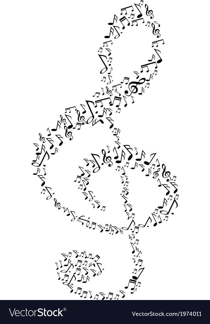 Music note symbol vector | Price: 1 Credit (USD $1)