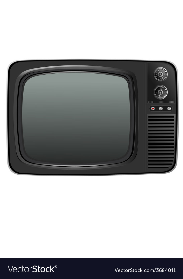 Old tv vector   Price: 1 Credit (USD $1)