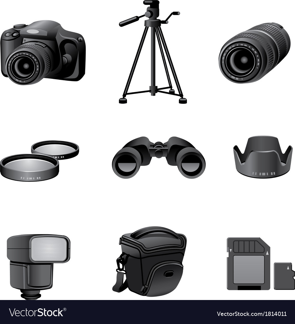 Photo accessories gray vector | Price: 1 Credit (USD $1)