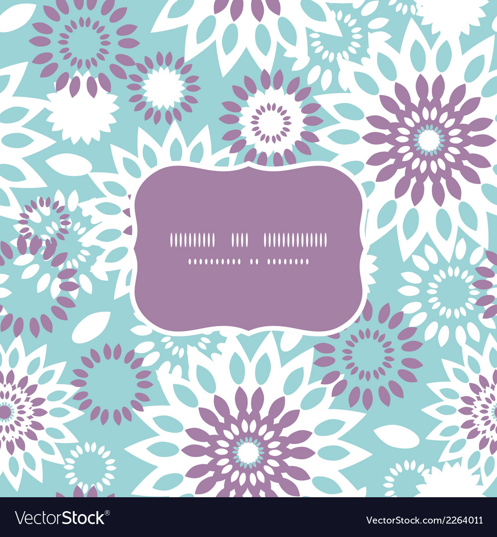 Purple and blue floral abstract frame seamless vector | Price: 1 Credit (USD $1)