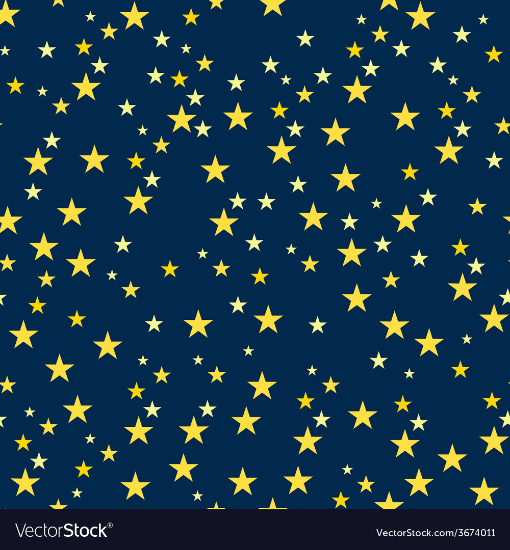 Seamless pattern with starry night vector | Price: 1 Credit (USD $1)
