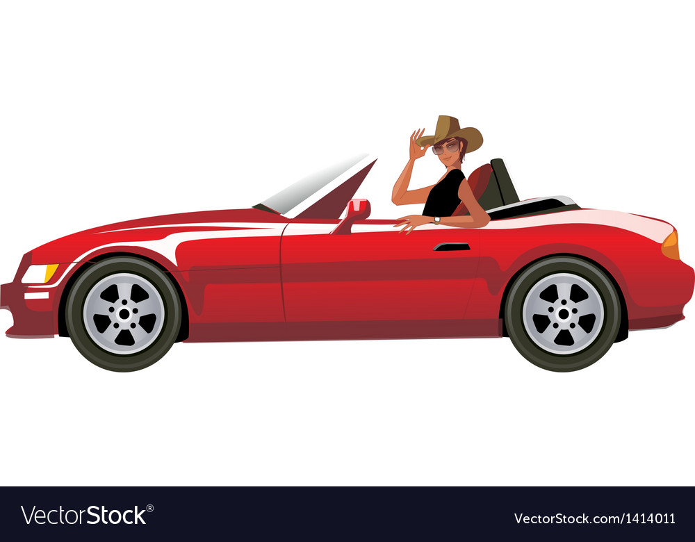 Side view of man sitting in car vector | Price: 1 Credit (USD $1)