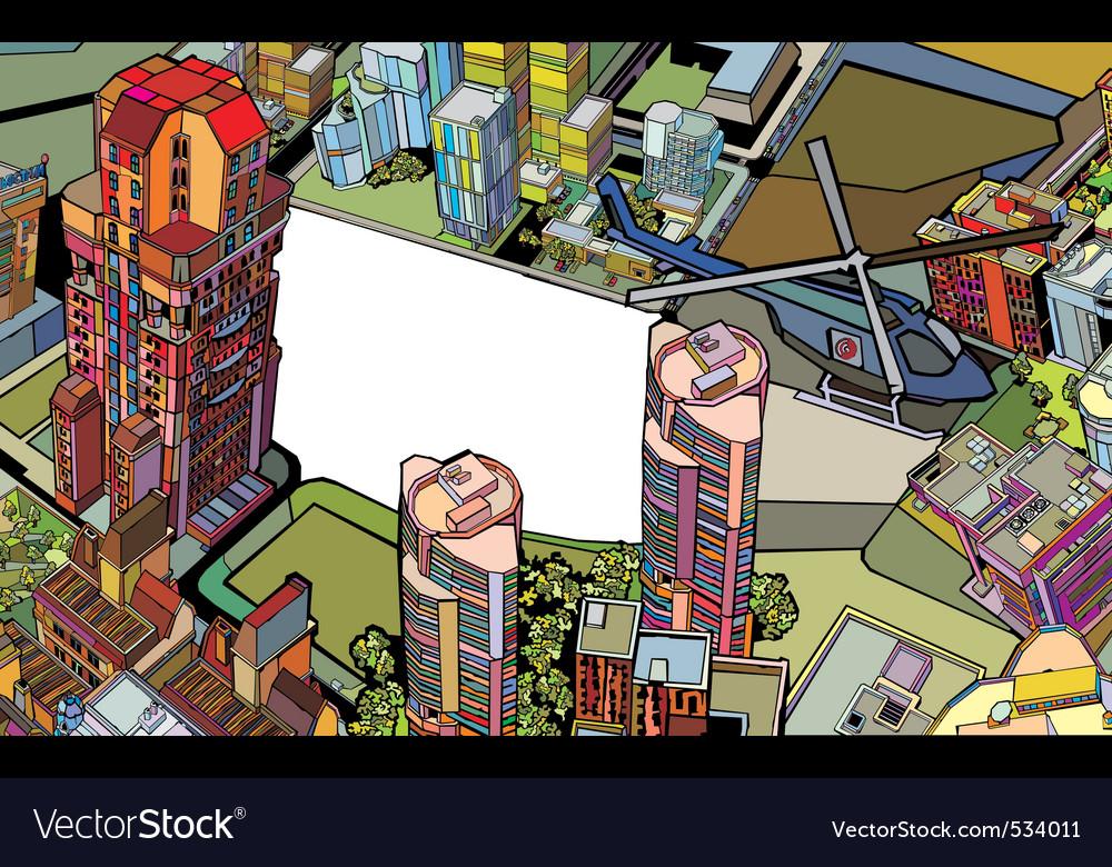 Urban city vector | Price: 3 Credit (USD $3)