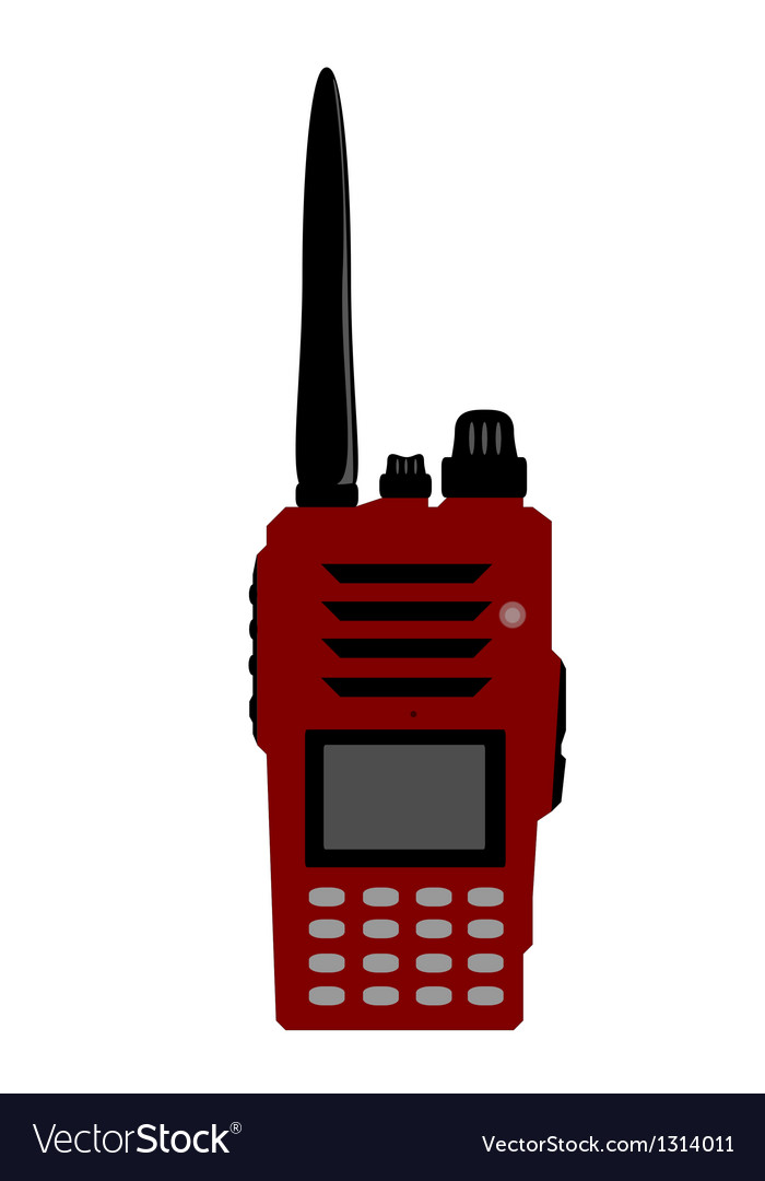 Walkie talkie or radio communication vector | Price: 1 Credit (USD $1)