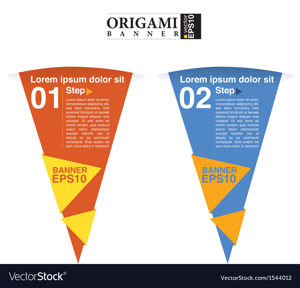 Abstract colorful triangle banner eps10 vector | Price: 1 Credit (USD $1)