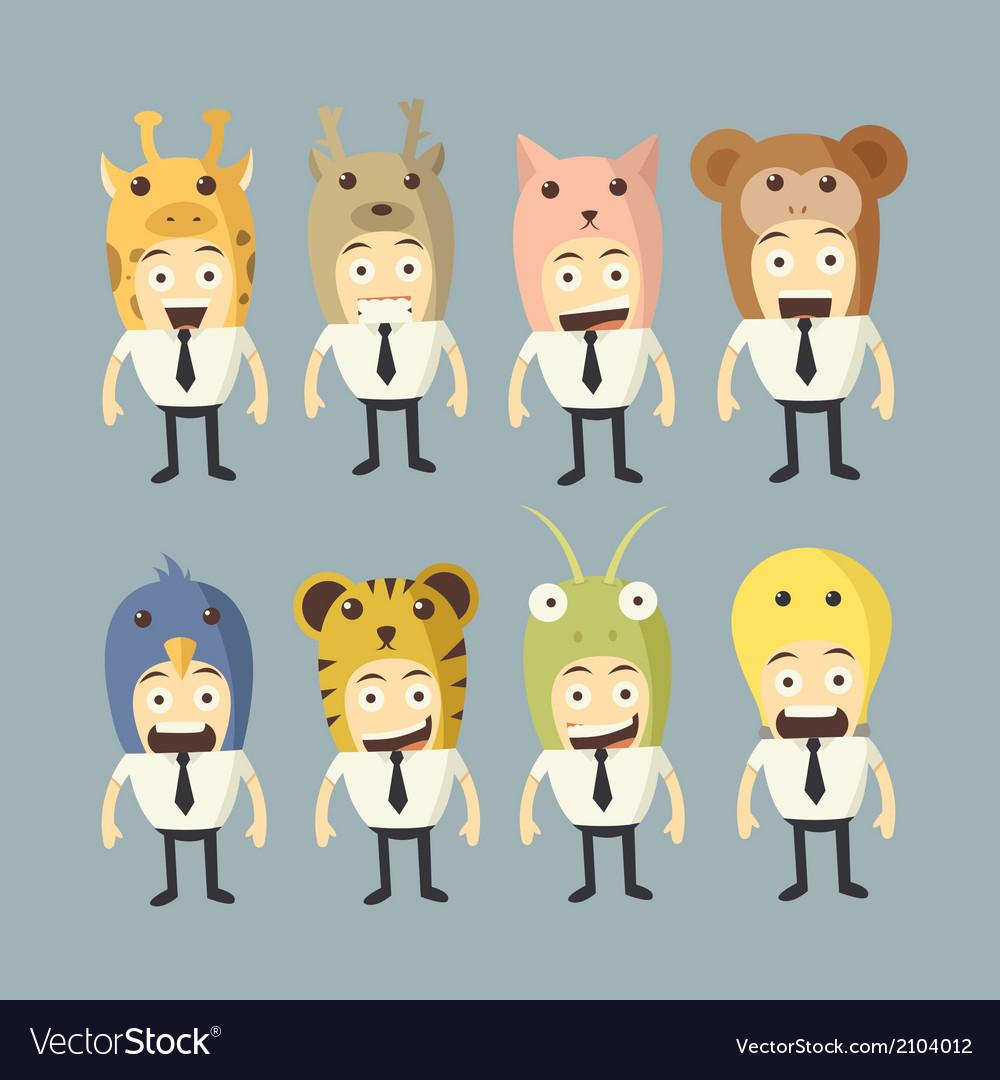 Businessman cartoon set vector   Price: 1 Credit (USD $1)