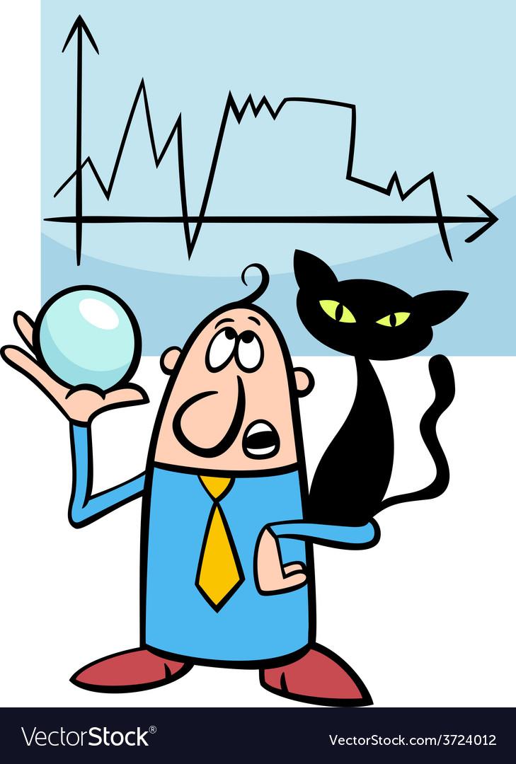 Businessman diviner cartoon vector | Price: 1 Credit (USD $1)