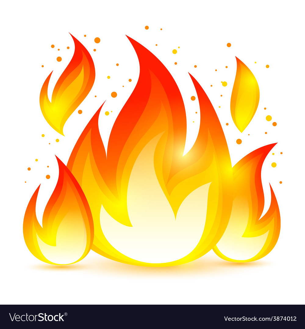 Fire decorative icon vector | Price: 1 Credit (USD $1)