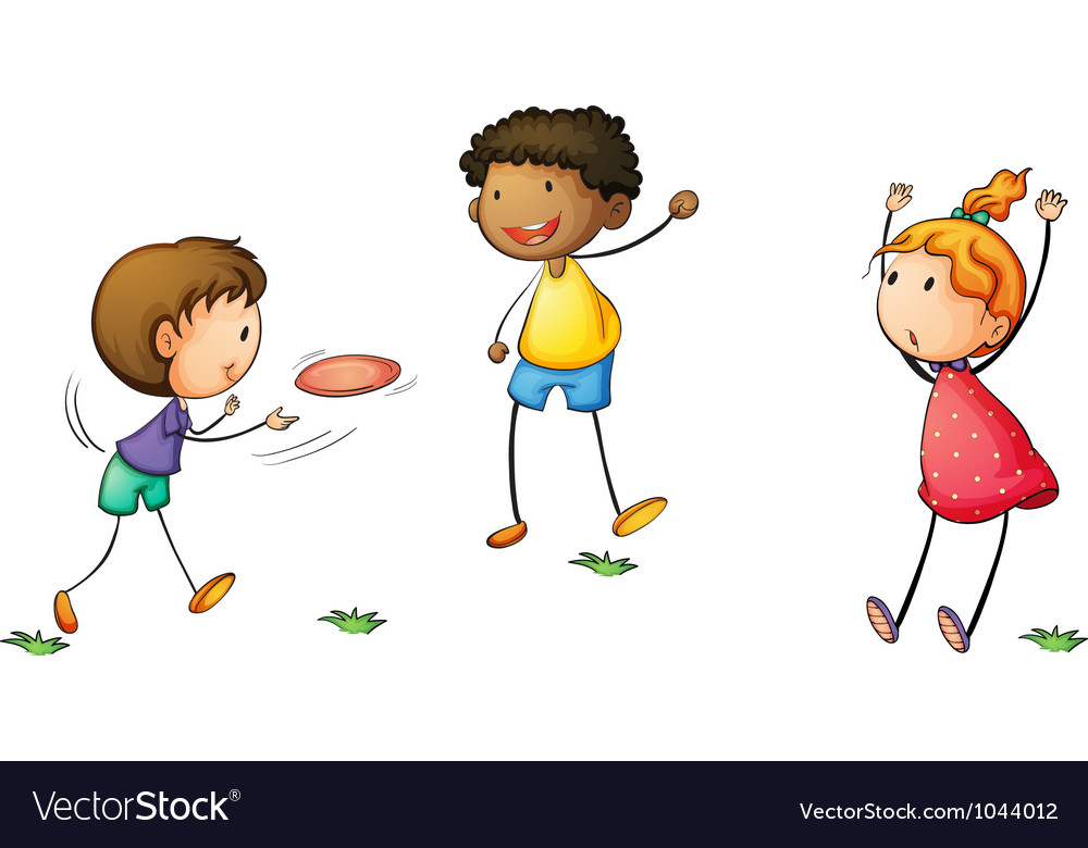 Frisby kids vector | Price: 1 Credit (USD $1)
