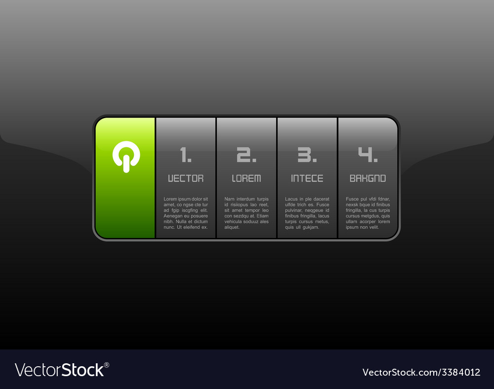 Glossy interface vector | Price: 1 Credit (USD $1)