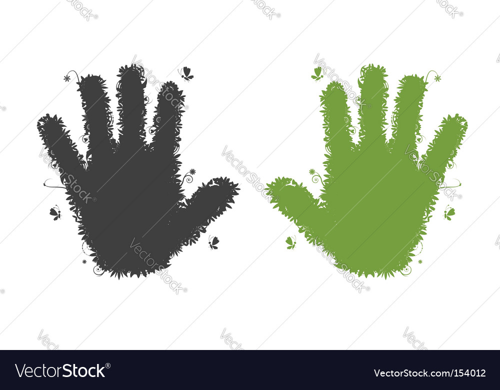 Hands shape silhouette vector | Price: 1 Credit (USD $1)