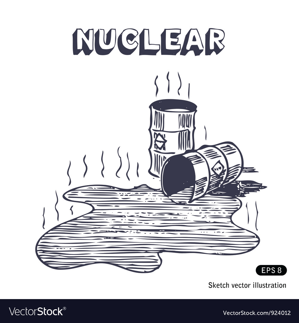 Metal barrels with nuclear waste vector | Price: 1 Credit (USD $1)